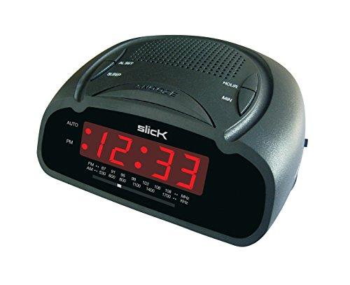 Slick CR212BK AM/FM Digital Alarm Clock Radio