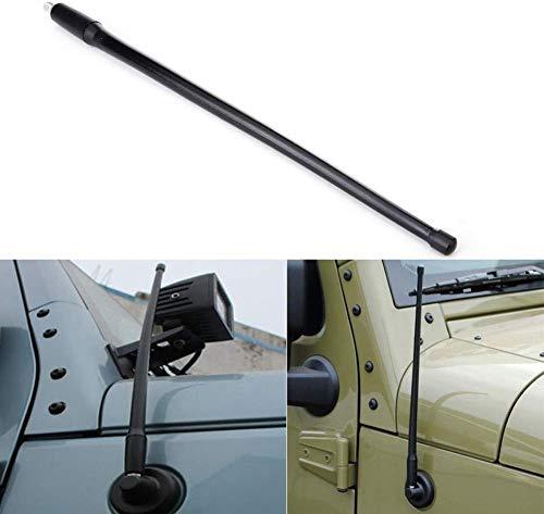 KaTur Jeep Antenne für Radio-Signal AM/FM, 2007 bis 2016 Jeep Wrangler J K, Schwarz, 35,6 cm