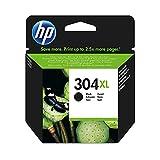 HP 304XL Original Druckerpatrone (mit hoher Reichweite für HP DeskJet 2630, 3720, 3720, 3720, 3730, 3735, 3750, 3760; HP ENVY 5020, 5030, 5032) schwarz