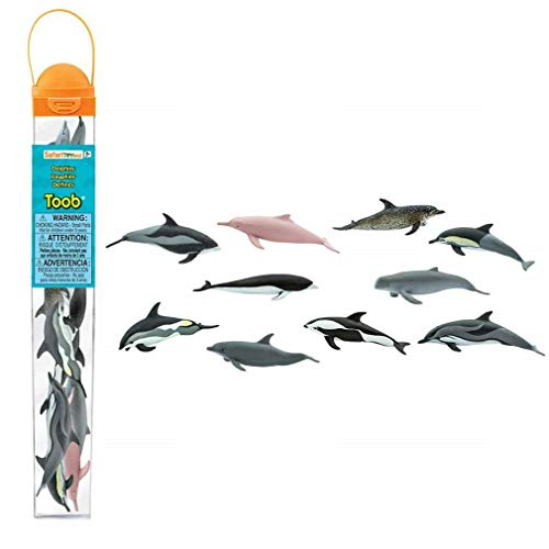 Safari Ltd. TOOB - Dolphins - Quality Construction from Phthalate, Lead and BPA Free Materials - for Ages 3 and Up