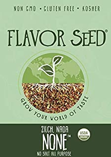FLAVOR SEED - Zilch. Nada. None. No Salt Organic All Purpose Seasoning | Loaded with Turmeric | No Sodium Anti Inflamatory...