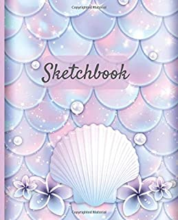 Composition Book: MERMAID SCALES:  Wide Ruled Notebook | School Subject Book Lined Student Journal | Pretty Pink Pastel Water Color Cute Sea Shells | ... Notes Planner| organizer | 7.5 x 9.25