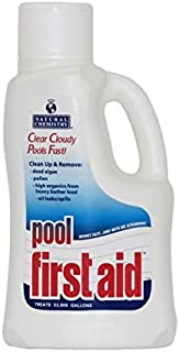 Natural Chemistry 03122 Pool First Aid Clears Cloudy Swimming Pool Water, 3x2-Liters
