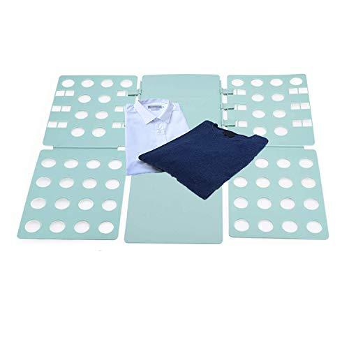 NXM Doblador De Ropa - Tabla para Doblar La Ropa Placa Ayuda para Plegar La Ropa Camisetas Tablero para Plegar Camisas Tablero Plegable Ajustable para Ropa De Adultos,Verde