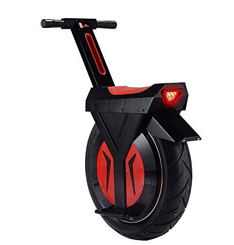 Scooter eléctrico de 500 vatios para adultos, una rueda, motocicleta, monociclo D2:...