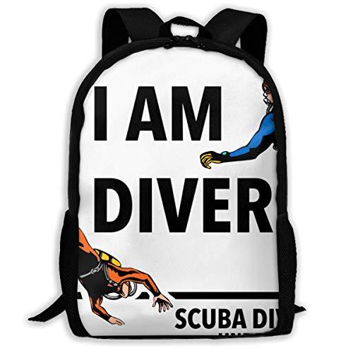 Lawenp I Am Diver Scuba Diving Underwater Waterproof Adult Unisex Backpack Diving Center,scuba Diving License