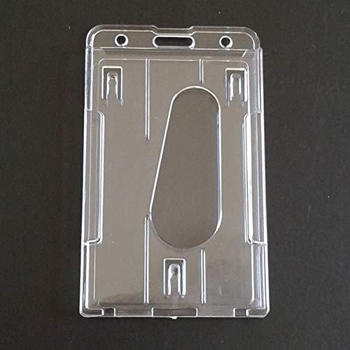 Tarjeta de Trabajo de plástico Duro Transparente, Certificados Insignia Portatarjetas de identificación Estuche de plástico Duro de Doble Cara Portátil Multiusos para portatarjetas de Trabajo