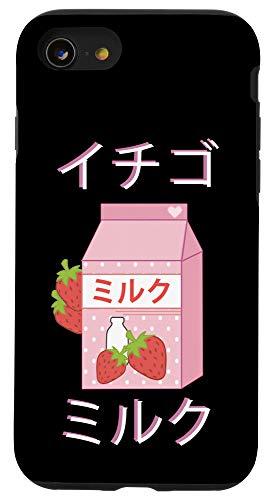 iPhone SE (2020) / 7 / 8 Japanese Milk Carton graphic Gift Strawberry milkshake print Case