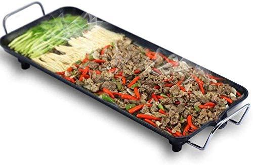 Bakplaat Family Party Electric Oven Non-Stick Smokeless Grill grote capaciteit Plaat van het ijzer Elektrische bakpan (Upgrade) QIANGQIANG