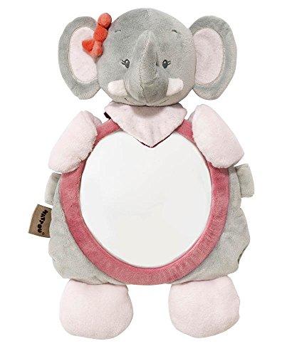 Nattou Rücksitzspiegel Elefant Adèle, Adèle und Valentine, 46 x 26 x 40cm, Grau/Rosa