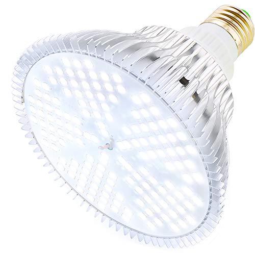 MILYN LED Pflanzenlampe 100W Tageslichtweiß Vollspektrum Pflanzenlicht E27 Led Grow Lampe, 150 LEDs Wachstumslampe für Gewächshaus,Innengärten,GrowBox,Zimmerpflanzen,Hydroponische Pflanzen wachsen