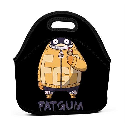 Fatgum Ice Cream My Hero Academia Men Women Kids Insulated Lunch Bag Tote Reusable Lunch Box for Work Picnic School