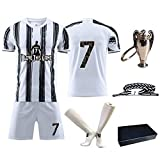 New #7 Soccer Jersey Kids Youth Football Shirt with Socks Birthday Gift for Boys Grils i love this game (black/white, 3-4years/size16)