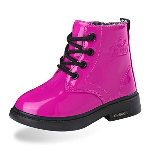 Hoylson Unisex-Kinder Boots Stiefel Winter Schneestiefel Warme Stiefeletten für Baby Mädchen (EU 20, Rot)