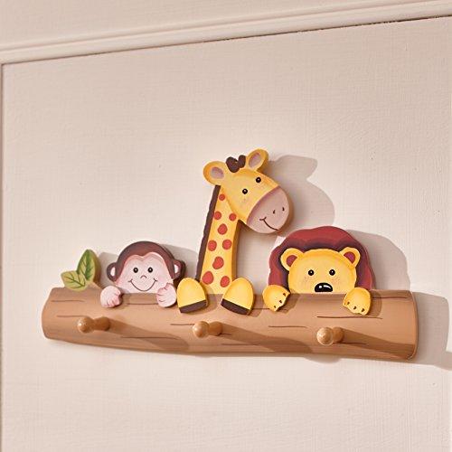 Perchero de pared para niños Safari