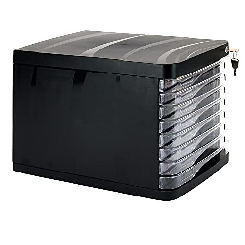 WAYTEX 931053 - Bloque de archivador con cerradura (8 cajones, tamaño A4)