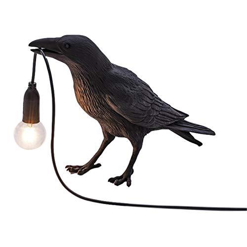 Lámpara de escritorio de cuervo, lámpara de mesa de pájaro, lámpara de noche móvil, aplique de pared LED moderno, accesorios de iluminación, soporte de pájaro cuervo, luz para decoración de dormitorio
