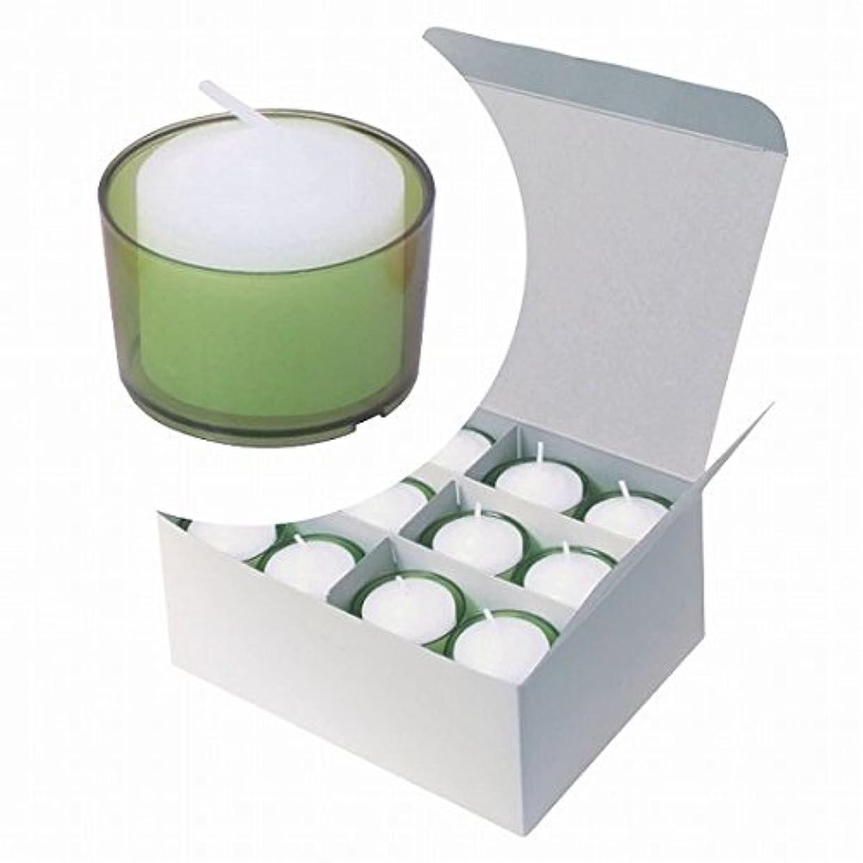 アヒル優先旅カメヤマキャンドル(kameyama candle) カラークリアカップボーティブ6時間タイプ 24個入り 「 グリーン 」