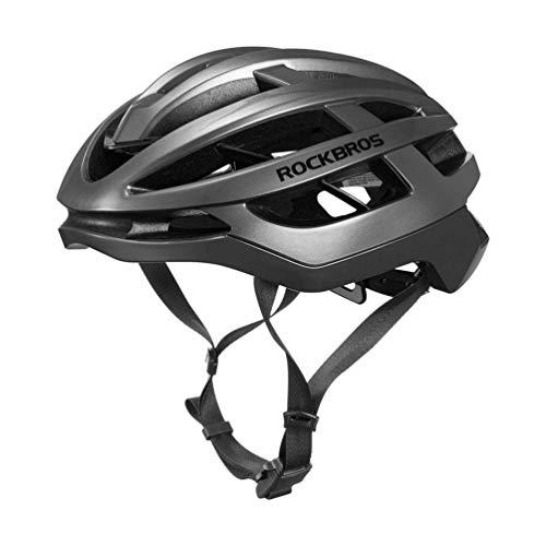 ROCKBROS Casco Bici MTB Casco Aerodinamico da Ciclismo Chiusura Magnetica Taglia Regolabile Ultra-Leggero Uomo Donna Unisex Certificato CE M(55-58cm)/L(58-61cm)