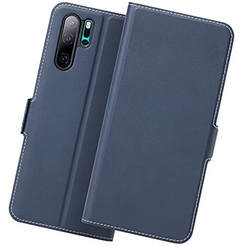 Photo of Holidi Huawei P30 Pro Case Wallet Style, Slim Huawei P30 Pro Flip/Folio Case, P30 Pro Cases with Card Holder. P30 Pro Case Leather, Huawei P30 Pro Cover Case, Full Protection. Blue