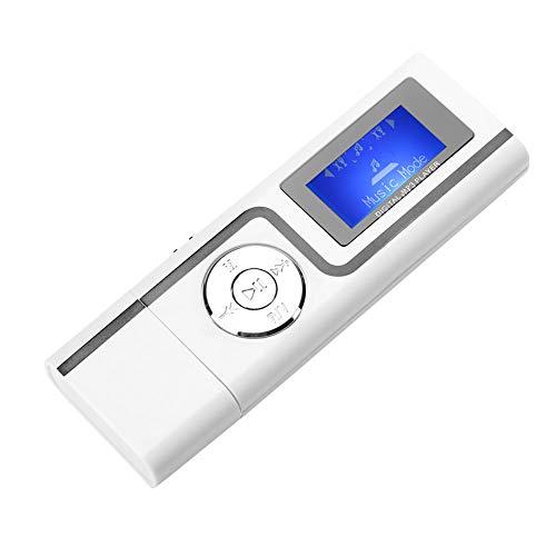 MP3-speler, rechte USB MP3-aansluiting met scherm TF-kaart, draagbare digitale muziekspeler, mini-MP3-speler voor WIN98 / SE / ME / 2000 / XP LIUXCORE2.4. (Wit)