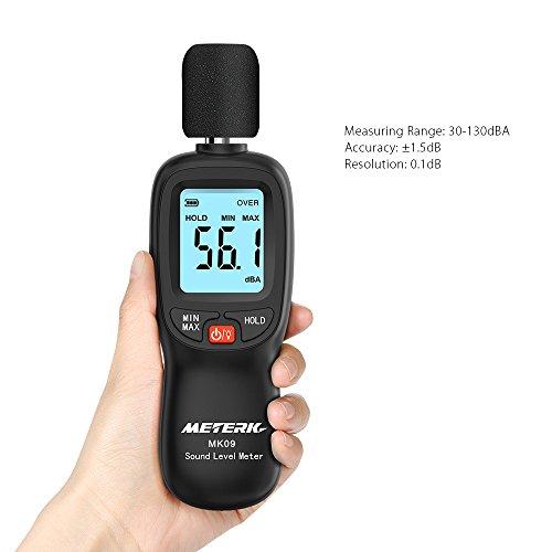 Schallpegelmesser Meterk Schallpegel Messgerät Messung Range 30-130dB - 5