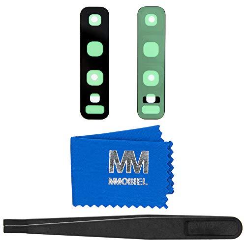 MMOBIEL Back Rück Kamera Glas Linse Ersatz Kompatibel mit Samsung Galaxy S10 6.1in / S10 Plus 6.4in inkl Pinzette und Tuch