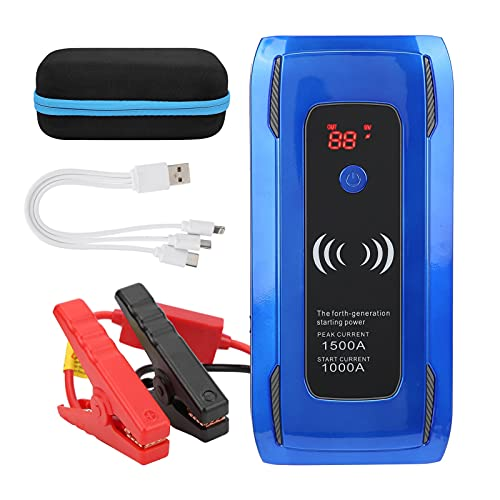 Jopwkuin Jump Booster, Siete Protecciones de Seguridad Arrancador de Coche de Corriente Estable para Todos los Coches de 12 V, vehículos Todo Terreno, Furgonetas para Coches de Gasolina diésel de 12