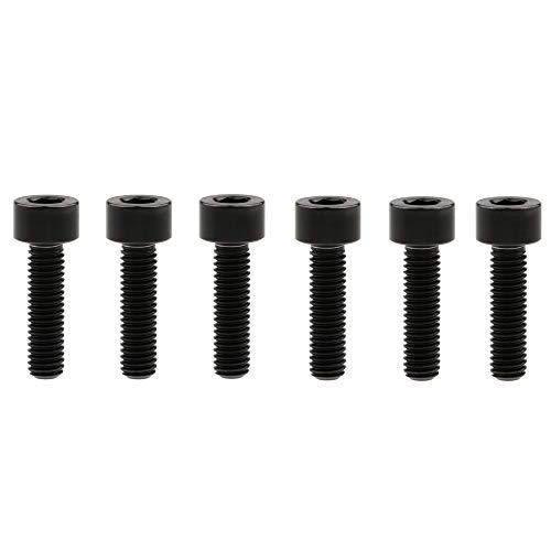 Yaruijia Titanschraube DIN912 M6x10/15/16/18/20/25/30/35/40/45/50/55/60 mm Vierkantkopf Innensechskant-Schrauben Gr5 für Fahrradteile, 6 Stück (M6x18 mm, schwarz)