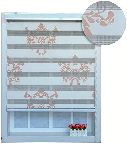 Persianas enrollables dobles de cebra, para ventanas, impermeables, para ventanas, persianas y persianas enrollables, para dormitorio, cocina, baño, ventana de baño, cortadas a medida para ventanas