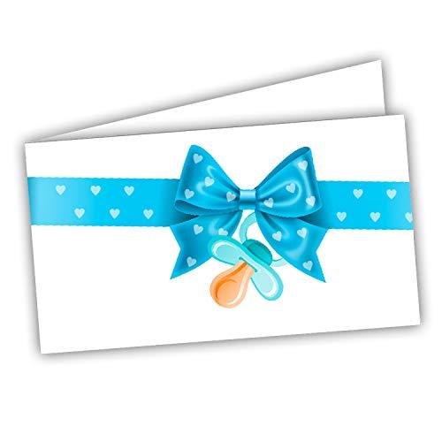 Bigliettini Bomboniera Sacchetti Confetti - Battesimo Nascita Compleanno 60 pezzi pretagliati - stampa l'interno facilmente con il file da scaricare dal link e il foglio di prova per non sbagliare