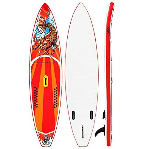 YTBLF Tabla De Remo Inflable para Adultos Tabla De Surf Hinchable Premium Inflable Stand Up Paddle Board Tabla Remo Kit De Reparación Línea De Seguridad Aletas Bomba De Mano