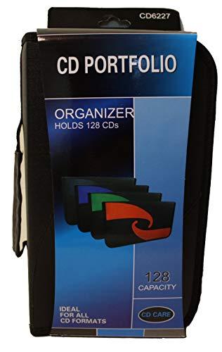 PSWholesale 128 Capacity CD Storage Wallet Case Organizer - Ideal for All CD Formats - CD Portfolio - Multicolor