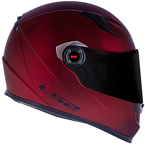 Capacete LS2 FF358 Monocolor Fosco Vermelho 54/XS