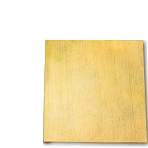 NO LOGO FMN-Tape, 1pc H62 99,9% Puro latón Tira de Cobre Hoja Delgada lámina metálica Placa Latten 100 mm x 200 mm x 0,8 mm 1,5 mm 1 mm 2 mm 3 mm de Espesor (tamaño : 100x200x2mm)