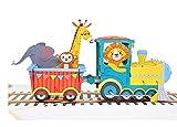 MOKIO® Pop-Up Karte für Kinder – Zug mit Tieren – 3D...