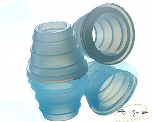 Kopfdichtung Shisha - Set wählbar: 1, 2, 3 oder 4er (Deluxe) für alle Wasserpfeifen - Shisha Dichtung für Ton-, Stein-, Glas- oder Silikonkopf - extra dicke & luftdichte Gummidichtung (2)
