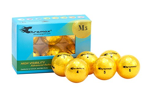 Chromax Golfbälle Metallic M5, bunt - 6 Stück, BCM56-GOLD, Gold