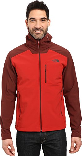 Mens Apex Bionic Red/Sequoia Red Soft Shell Hoodie Jacket