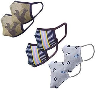 Cotton Cloth pack of 6 Face Mask Washable Reusable Face Masks Soft Earloop/Mouth Nose Cover face masks Men Women Kids Unis...