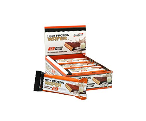 EthicSport HIGH PROTEIN WAFER barretta ad alto contenuto proteico 12x35g VANIGLIA YOGURT