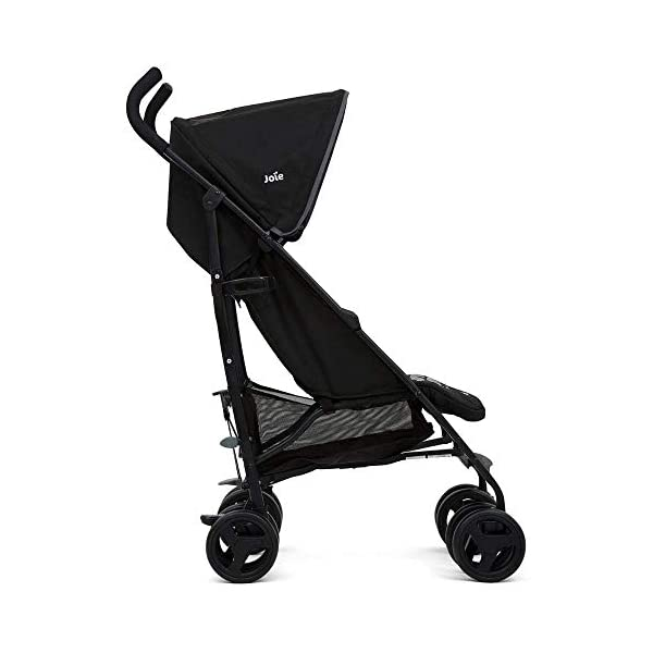 Joie Nitro Baby Stroller Pushchair Lightweight Stroller Baby Buggy with Raincover - Waves Caviar Joie This Baby Stroller Colour is Waves Caviar Suitable from birth - 15kg Includes raincover Made with 100% premium highest quality materials, this ride has been made to last. Sleek and lightweight umbrella chassis Multi-position, flat reclining seat is suitable from birth Easy and compact fold and convenient carry handle This Baby Buggy Multi-position calf support gives two comfy options Ergonomic foam handles UPF 40+ sun canopy, removable and adjustable hood 2