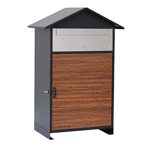WLL Parcel Lock Box Secure Package Delivery Box Express Package Delivery Box Freestanding Locking Parcel Drop Box 19.2X34X13.7 Inches