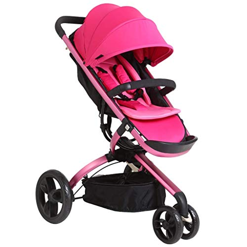 Review Yyqt Baby Stroller, Stroller Can Sit Reclining Folding Double Shock Absorber Portable High La...
