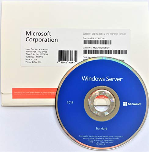 Windows Server 2019 Standard Edition OEM English 16-Core P73-07788