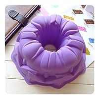 MJPP シリコーンビッグケーキ金型の花のクラウン形状ケーキ耐熱皿ベーキングツール3Dパン菓子モールドピザパン誕生日ウェディングパーティー (Color : H894)