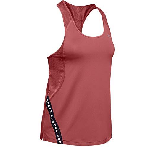 Under Armour Wordmark Tape - Chaleco de Entrenamiento para Mujer, Color Rosa