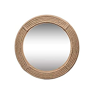 Foreside Home and Garden Round Wrapped Rope Wall M...