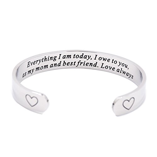LParkin Mom Jewerly Everything I Am Today I Own to You Stepmom Bracelet (Cuff)