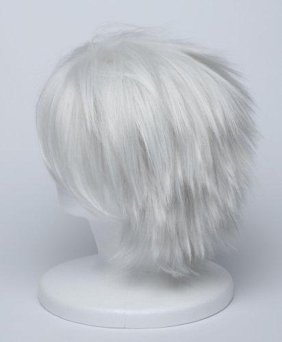 『【コスプレ】 ウィッグ NARUTO はたけカカシ 風 白髪 銀髪 衣装 道具 小物 ナルト ウィッグネット カカシ』の3枚目の画像
